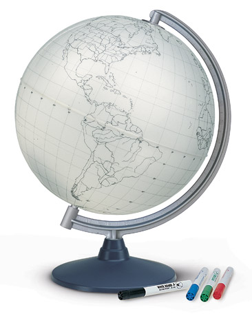 Blank Globe with pens